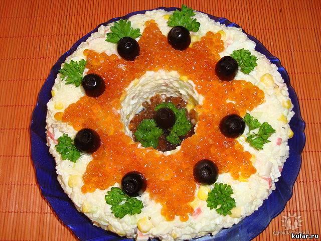 Рецепт салата морское дно с